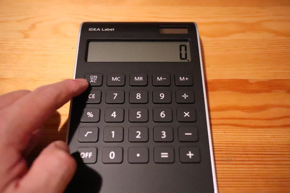 イデアレーベル 電卓11