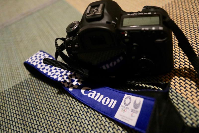 Canonオリジナル東京オリンピックストラップ1