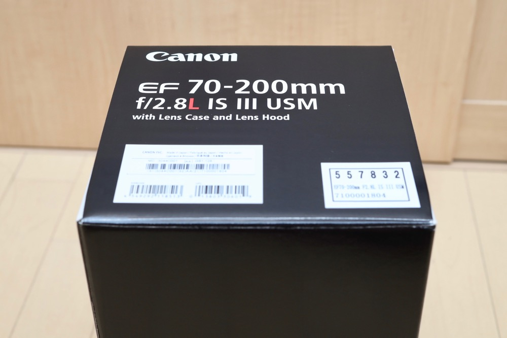 Canon EF70-200mm F2.8L IS III USM モニター6
